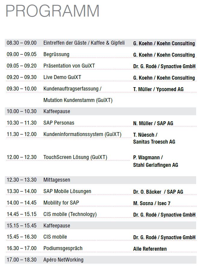 Programm Event