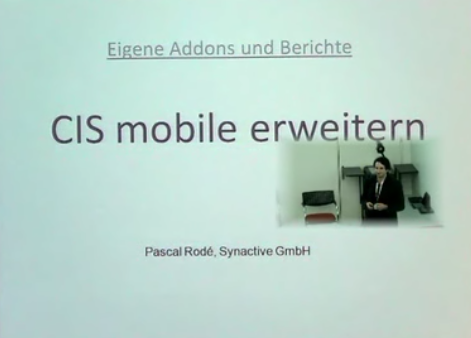 CIS mobile erweitern (AddOn's) – P. Rodé Synactive GmbH