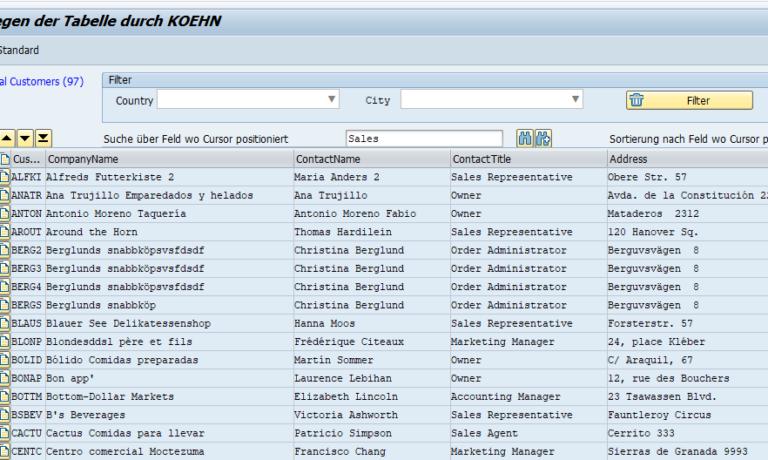 GuiXT arbeitet mit MS SQL Datenbank zusammen